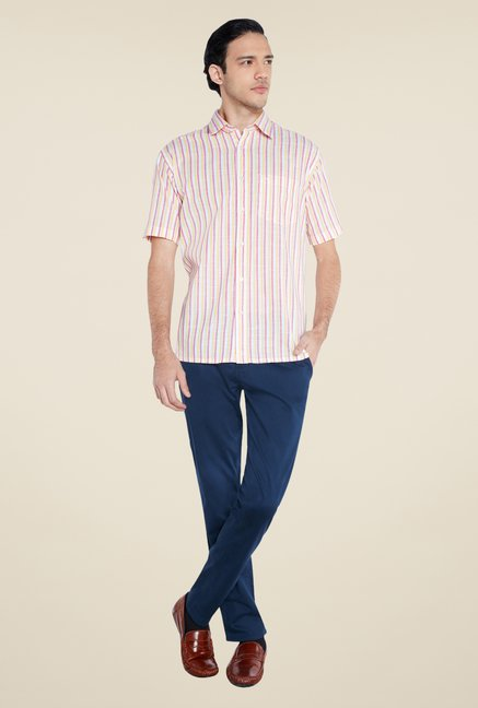 ColorPlus Beige Striped Shirt