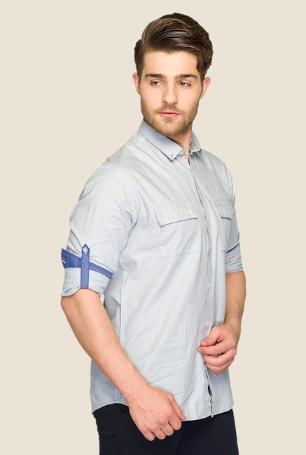 ColorPlus Light Blue Solid Shirt