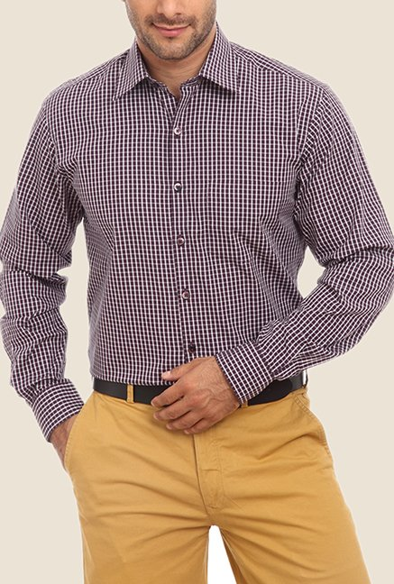 ColorPlus Purple Checks Shirt