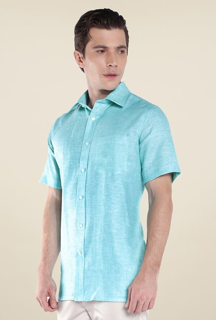 Park Avenue Green Linen Shirt