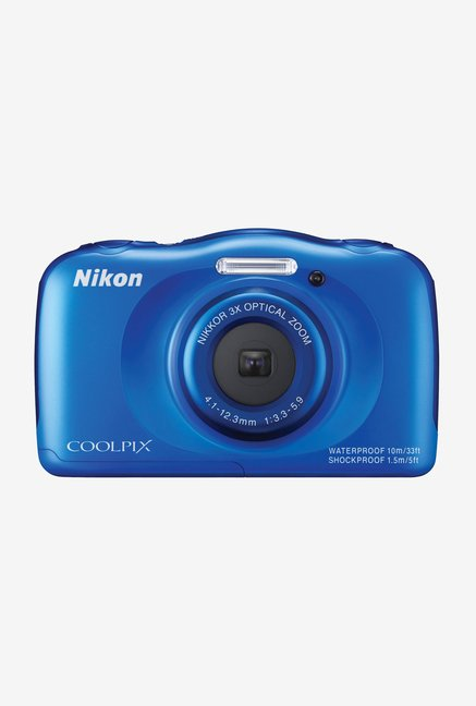 Nikon Coolpix S33 Water Proof Point & Shoot Camera (Blue)