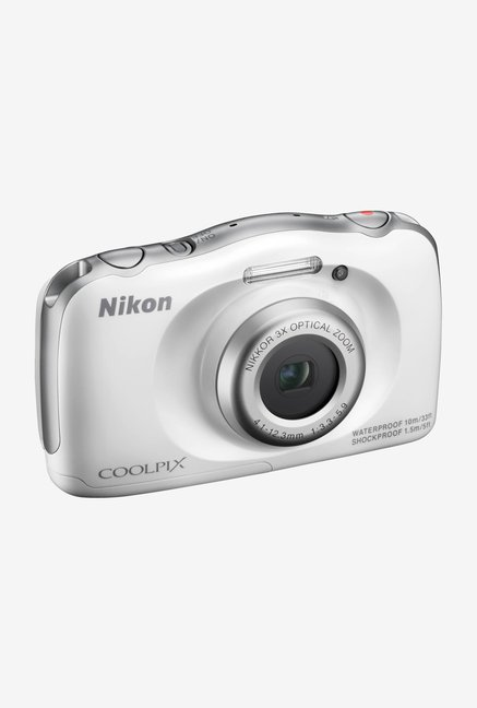 Nikon Coolpix S33 Water Proof Point & Shoot Camera (White)