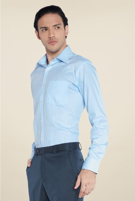 Park Avenue Blue Pin Striped Cotton Shirt