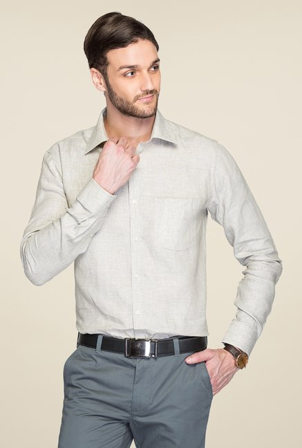 Park Avenue Grey Linen Shirt