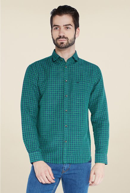 Park Avenue Green Checks Shirt
