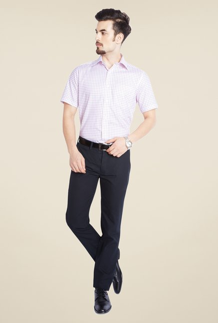 Park Avenue Pink Checks Cotton Shirt