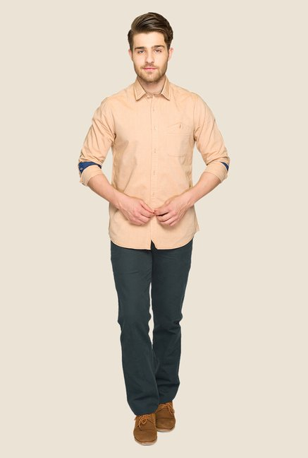 ColorPlus Beige Solid Shirt