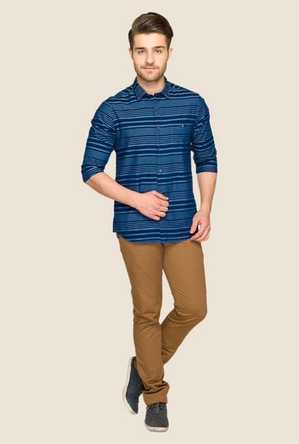 ColorPlus Indigo Striped Shirt