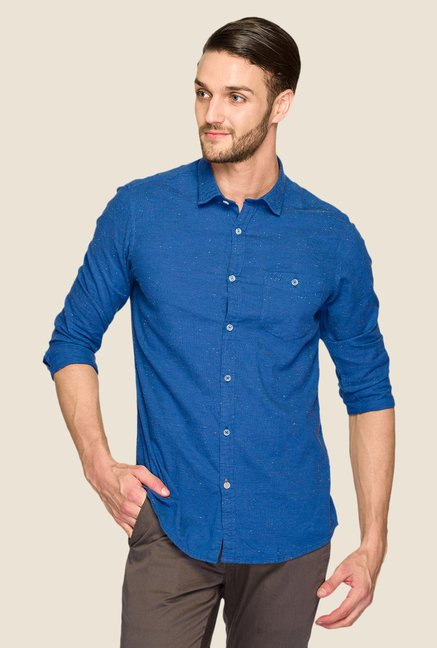 ColorPlus Navy Printed Shirt