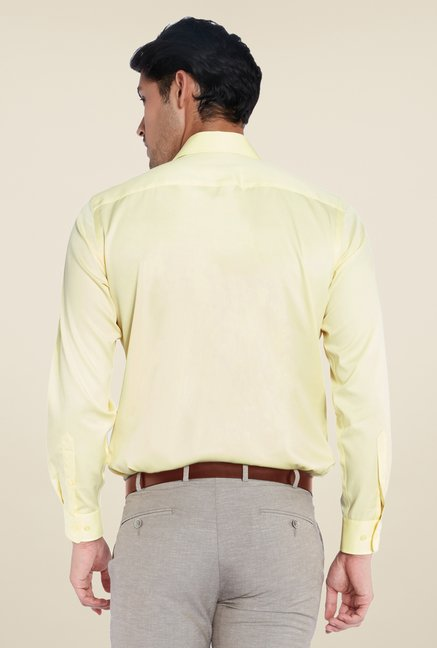 Park Avenue Yellow Solid Cotton Shirt