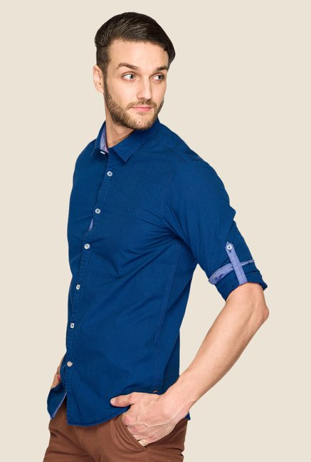 ColorPlus Navy Solid Shirt
