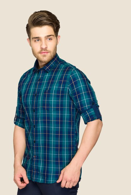ColorPlus Green Checks Shirt
