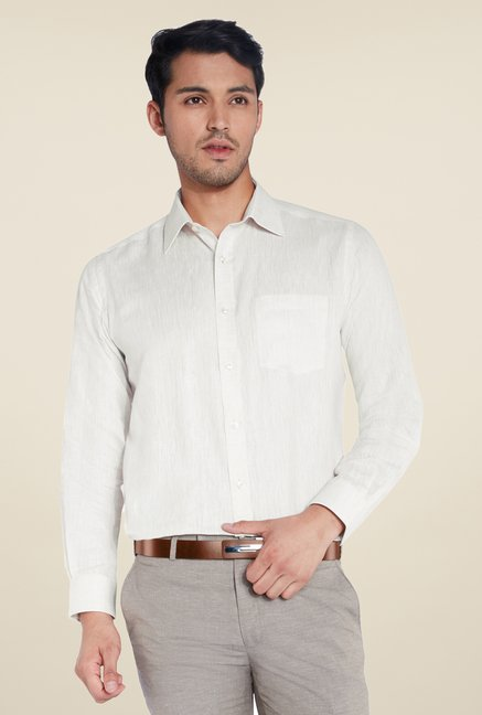 Park Avenue Cream Linen Shirt