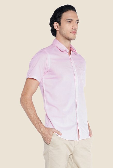 ColorPlus Pink Solid Shirt