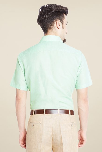 Park Avenue Green Solid Shirt