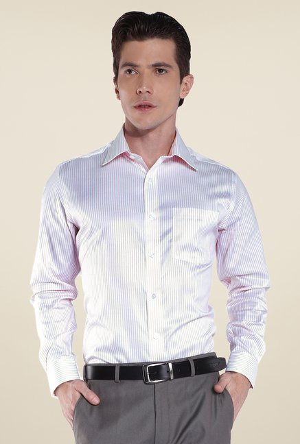 Park Avenue Pink Striped Cotton Shirt