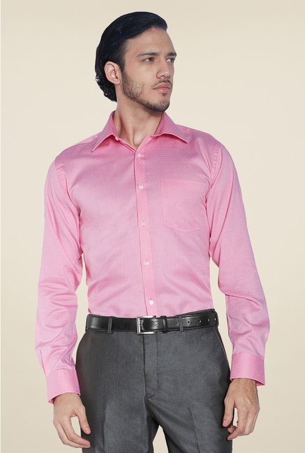 Park Avenue Pink Printed Cotton Shirt