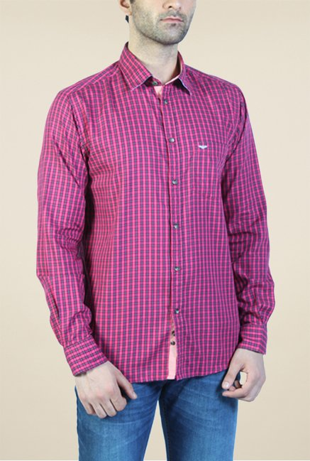 Park Avenue Red Checks Shirt