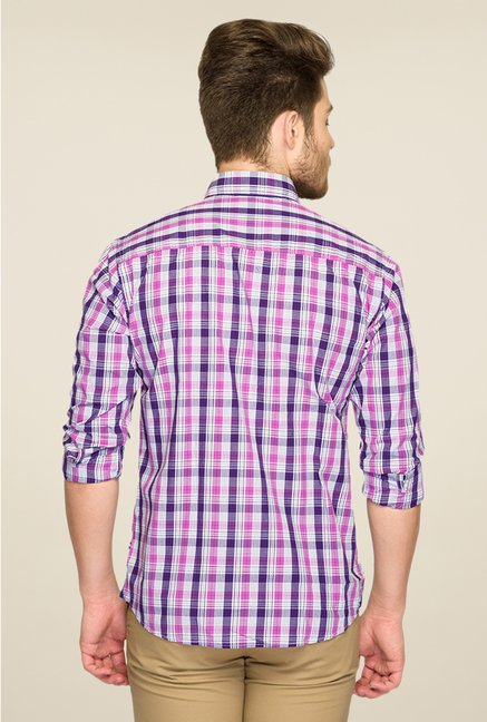 Park Avenue Purple Checks Shirt