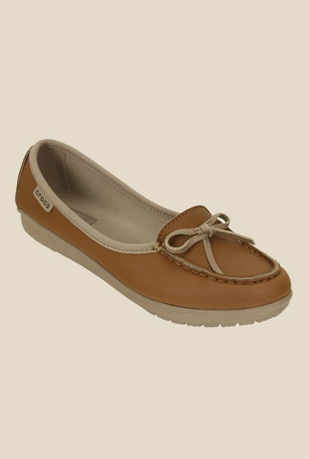Crocs Wrap Color Lite Hazelnut Ballet Shoes