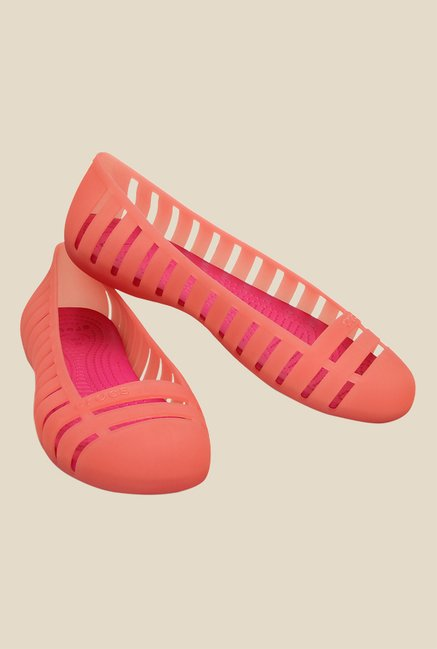 Crocs Adrina Flat II Peach & Candy Pink Casual Shoes