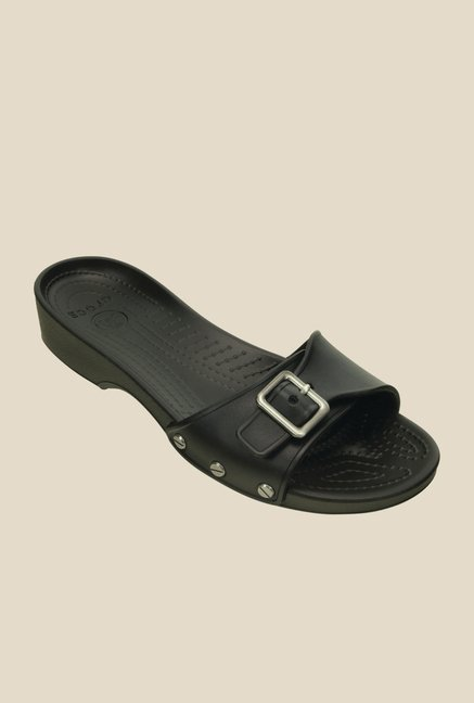 Crocs Sarah Black Slide Sandals