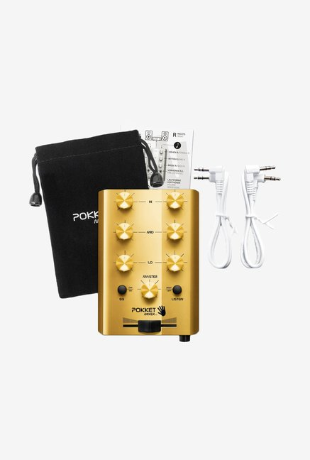 Pokketmixer Pm11Gol002 Mobile Mini Dj Mixer Speaker (Gold)