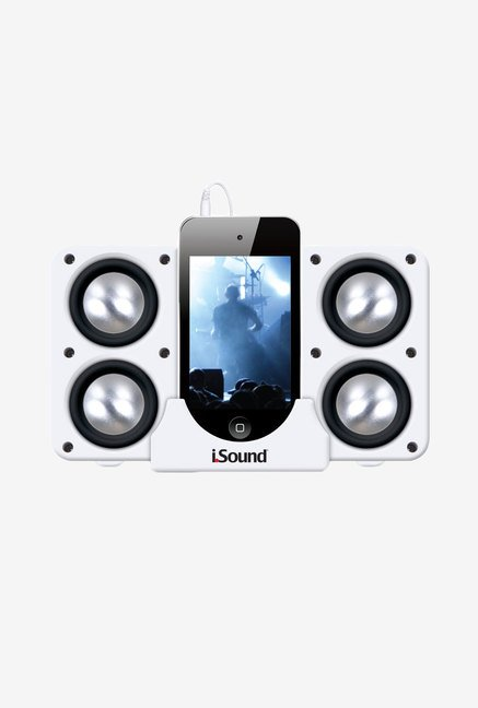 Isound Quad-X 5219 Portable Speaker (System White)