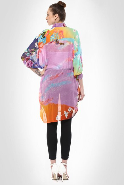 Pashma Designer Wear Batwing Sleeve Printed Tunic By Kimaya