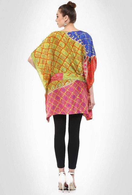 Pashma Designer Jewel Print Multicolored Tunic By Kimaya