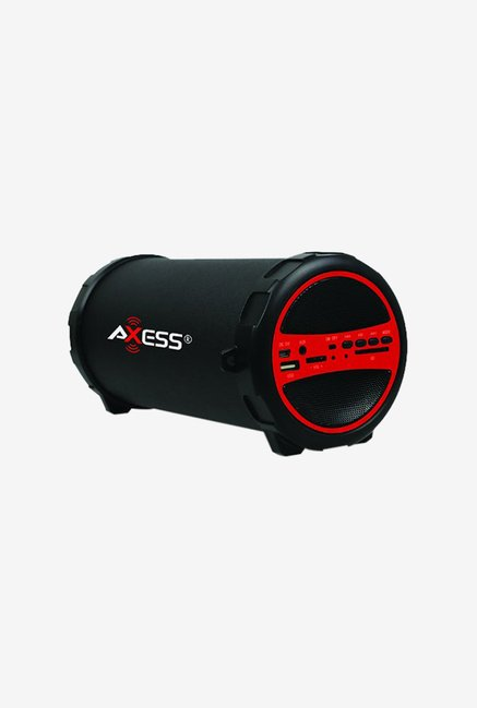 Axess SPBT1031 Bluetooth Hi-Fi Cylinder Loud Speaker (Red)