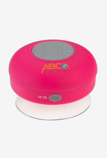 Abco Tech Water Resistant Bluetooth Shower Speaker (Pink)