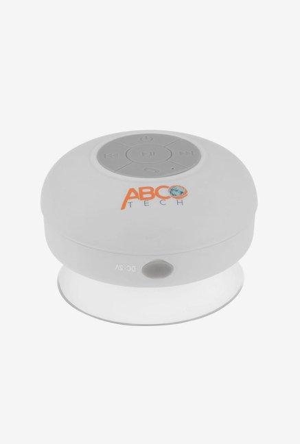 Abco Tech Water Resistant Bluetooth Shower Speaker (White)
