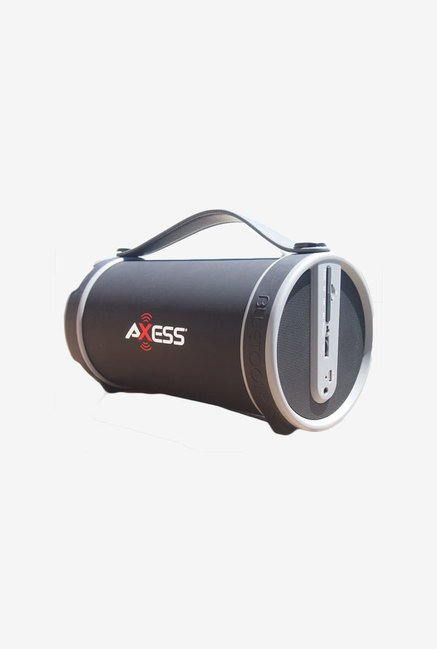 Axess SPBT1033 Bluetooth Hi-Fi Cylinder Loud Speaker (Grey)