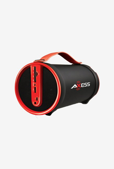 Axess SPBT1033 Bluetooth Hi-Fi Cylinder Loud Speaker (Red)