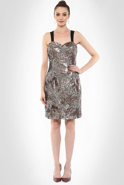 JuBy Mcdonald Designer Wear Sequin Cocktail Dress By Kimaya