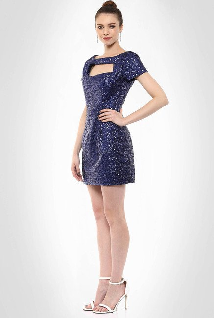 JuBy Mcdonald Designer Wear Sequin Bodycon Dress By Kimaya