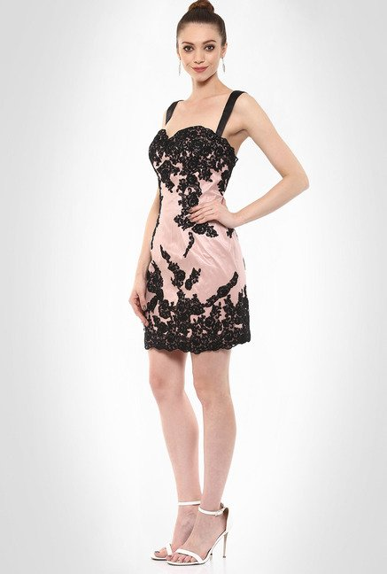 JuBy Mcdonald Designer Wear Metallic Pink Dress By Kimaya