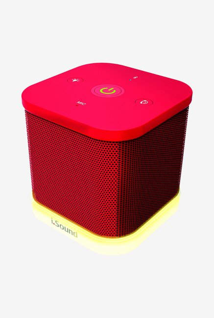 Isound Iglowsound Cube Bluetooth Speaker (Red)