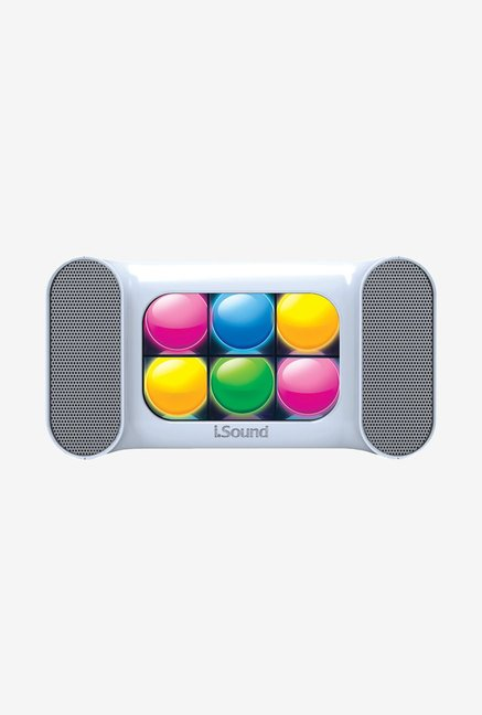 Isound Mini Dancing Lights Bluetooth Speaker (White)