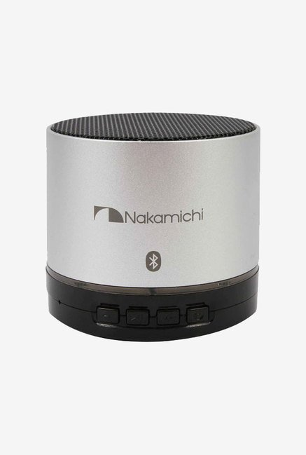 Nakamichi BT05S Bluetooth Round Speaker (Silver)