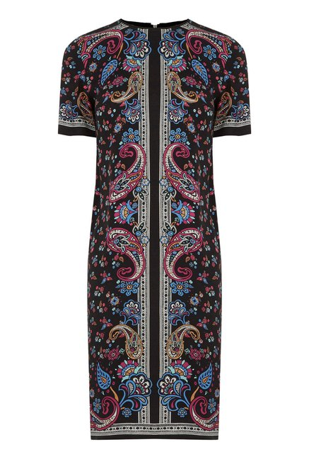 Warehouse Multicolor Paisley Shift Dress
