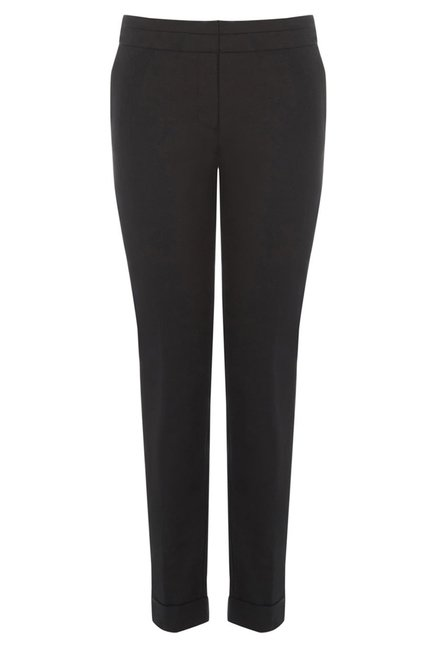 Warehouse Black Flat Front Trouser