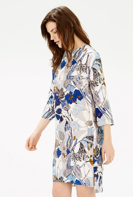 Warehouse Multicolor Floral Printed Shift Dress