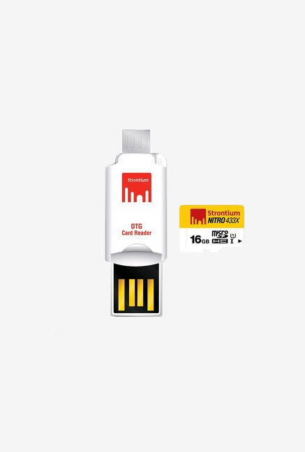 Strontium 16 GB Nitro Class 10 micro SD with OTG Card Reader