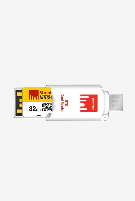 Strontium 32 GB Nitro Class 10 micro SD with OTG Card Reader