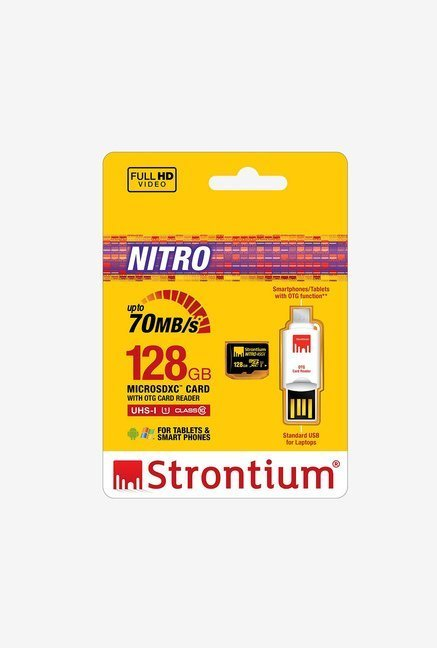 Strontium 128GB Nitro Class 10 micro SD with OTG Card Reader