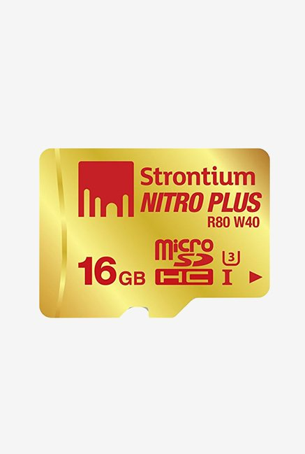 Strontium 16 GB MicroSD Nitro Plus UHS-I with Adaptor&Reader