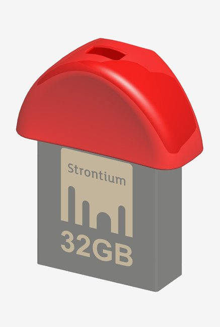 Strontium Nano USB 3.0 32 GB Utility Pen Drive (Red & Grey)