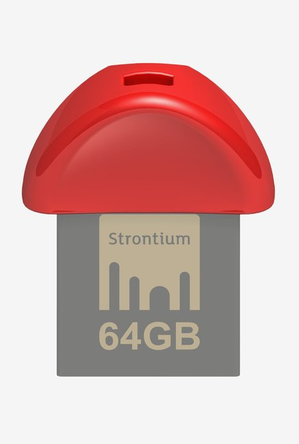 Strontium 64 GB Nitro Plus Nano USB 3.0 Flash Drive (Red)